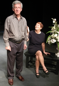 Richard Vernon and Linda Roper in Stageworks/Hudson's production of PLAY BY PLAY - Crossroads.